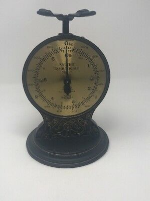 Vintage SALTER FAMILY SCALE No 46 / Black Iron and Brass / Made in England