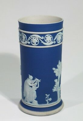 Antique Wedgwood Dark Blue Jasper Ware Porcelain Spill Vase.
