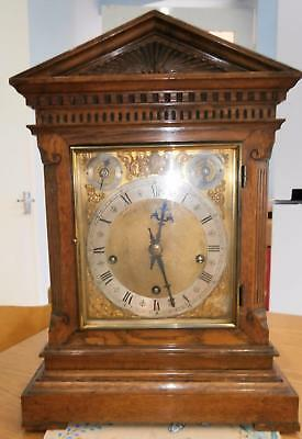 W&H 5 Coiled Gong Westminster Bracket Clock Serviced & Overhauled
