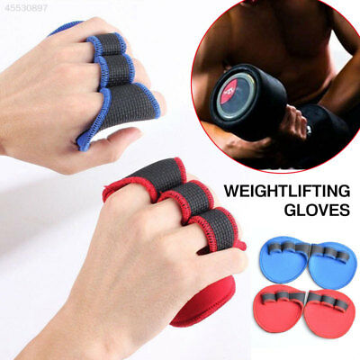 Sport Grip Weight Lifting Pads Gloves Fingerless Gym Workout Fitness Training US