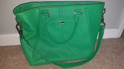 Jewell By Thirty One Tote Bag Purse Overnight Fashion Green