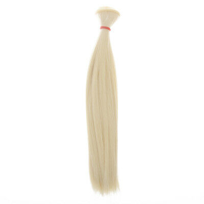 25x100cm DIY Straight Hair Wig for 1/3 1/4 1/6 Barbie BJD SD Doll Accessory
