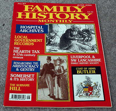 Family History Monthly–June 2000 – Hearth Tax, Hill, Butler, Hospital Archives