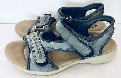 c177647b2f7 Clarks Privo Women s Seacrawl Fisherman Sport Sandals Size 7.5M Blue  37377