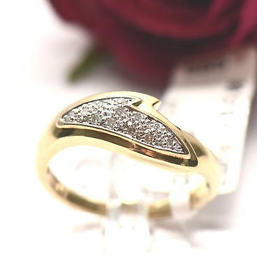 Eleganter ca. 0,09ct Diamant 585er Gold Ring Diamantring