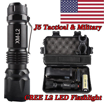 20000 lm Lumitact G700 L2 LED Tactical Flashlight Military Torch Rechargeable US