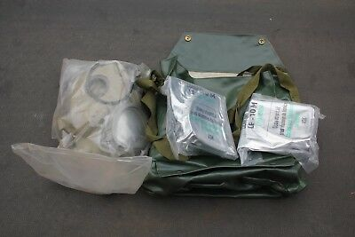 Czech M10 Gasmask Set *2 Filters Included Unissued Cold War Surplus