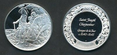 France: Louvre - Charles I at the Hunt, Anthony van Dyck 40g Silver Medal, 45mm