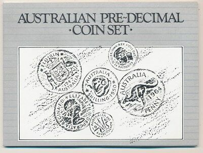 Australia:  1961 QEII Pre-Decimal Set of 6 (4 Silver) in Scarce Custom Package