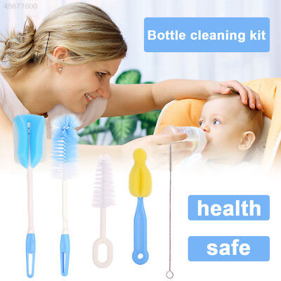 0F1F Pacifier Drink Baby Bottle Brush Creative 5pcs/Set Water Cup Kids Cleaner