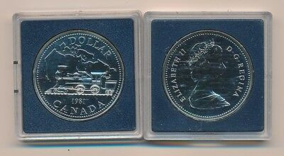 Canada: 1981 $1 Silver Train Engine Proof-like in Mint Case