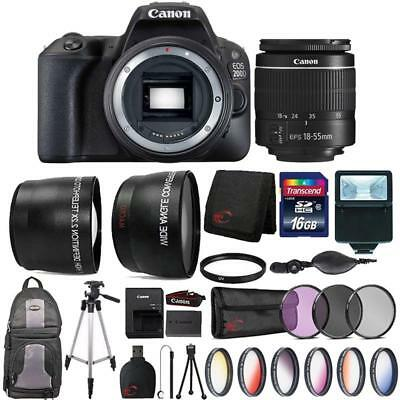 Canon EOS 200D / SL2 24.2MP DSLR Camera + 18-55mm Lens + 16GB Accessory Kit