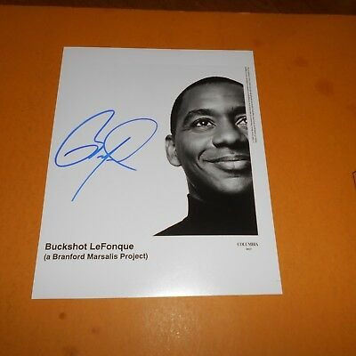 Branford Marsalis is an American saxophonist, composer Hand Signed Photo