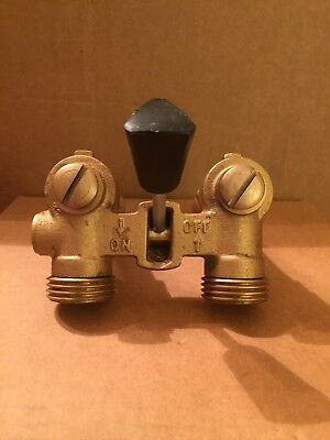 "Washing Machine Single-Lever Valve 1/2"" MIP Connection Durable Brass"
