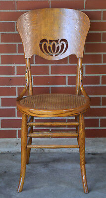 Set of Six Antique Oak Side/Dining Chairs, circa 1920-30
