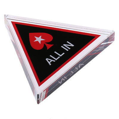 Pro Casino ALL IN Crystal Poker Chip Texas Hold'em Card Guard Game Accessory