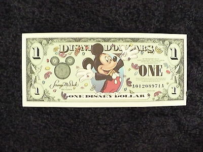 Disney  Dollar $1.00 Mickey Mouse / Epcot Sphere 2000 Mint No Longer Available