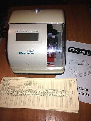 Acroprint ES700 Electronic Time Clock- Great Condition