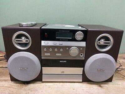 Philips MC145 Micro Hifi Stereo System with CD, Tape & FM Remote *UNTESTED*