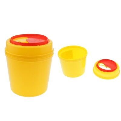 2Pcs Sharps Container Biohazard Needle Disposal for Tattoo Medical- 1L 4L