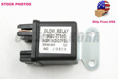 12V Glow Plug Relay For Anmar Ngk G71Su 119650-7791010 Oem New