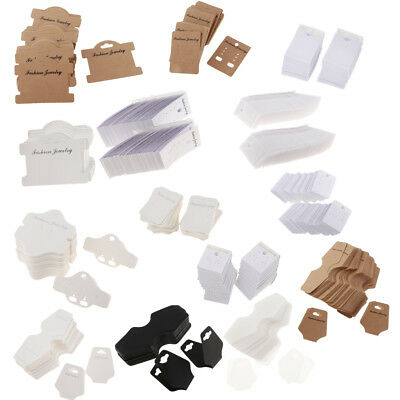 100 Pieces Necklace Bracelet Display Cards Jewelry Hanging Showing Cards