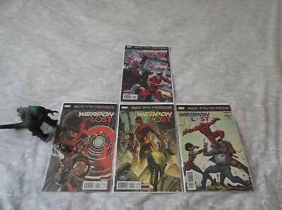 Weapons Lost 1 - 4 Limited Series Hunt For Wolverine 1St Prints Marvel Comics