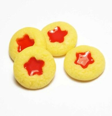 4 Dollhouse Miniature Jam Dot Cookies * Doll Mini Food Bakery Cookie Biscuits