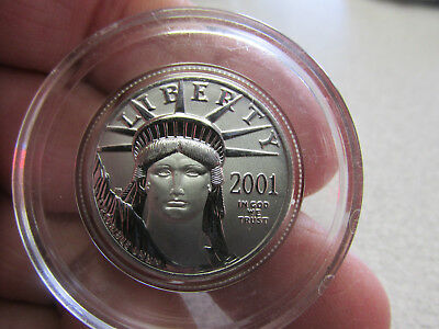 Platinum American Eagle 2001  PROOF COIN $50  1/2 Ounce Platinum Coin No Reserve