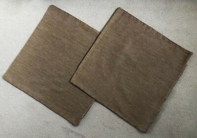 2 X Light Brown Linen Blend/weave Cushion Covers (Voyage Fabric) 22 X 22""