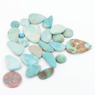 Lot of 23 Turquoise Stone Cabochons - 28g