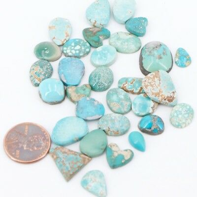 Lot of 30 Turquoise Stone Cabochons - 21g