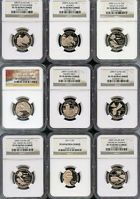Mixed Lot Of NGC Graded Coins PF69 & PF70 (You Will Receive The Coins Pictured)2
