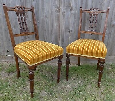 Pair of  Mahogany Occasional Side Chairs Very Good Clean Order Collect in Devon