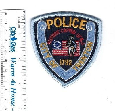"Trenton NJ New Jersey Police hat patch ""Historic Capital of N.J."" - NEW!"
