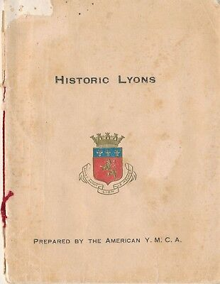 World War One Era YMCA Guide to Historic Lyons, France AEF Servicemen, Maps
