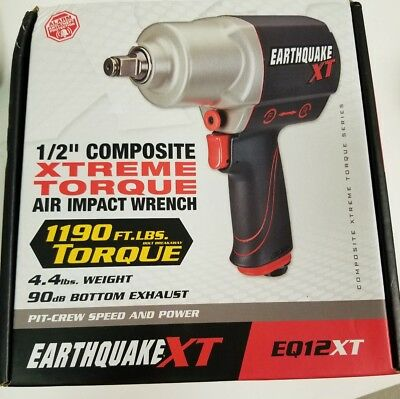 "NEW EarthquakeXT 1/2"" Composite Xtreme Torque Air Impact Wrench EQ12XT"