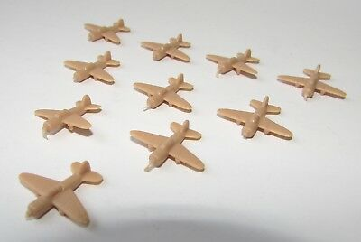 AXIS & ALLIES 1987 Game Replacement Parts  PLANES TAN BEIGE 10 Complete Set