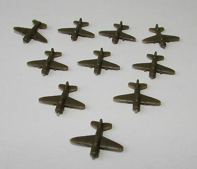 AXIS & ALLIES 1987 Game Replacement Parts  PLANES GREEN 10 Complete Set
