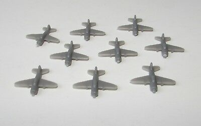 AXIS & ALLIES 1987 Game Replacement Parts  PLANES GREY Set of 9