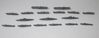 AXIS & ALLIES 1987 Game Replacement Parts BOATS SHIPS SUBS GREY Complete Set