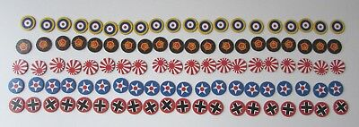 AXIS & ALLIES 1987 Game Replacement Parts 100 CONTROL MARKERS WWII Complete Set