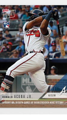2018 Topps Now Rookie Card Atlanta Braves Ronald Acuna #592 Leadoff Hr N Both Dh
