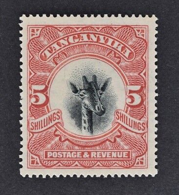Tanganyika, 1923, 5s scarlet value SG 86a, mounted mint