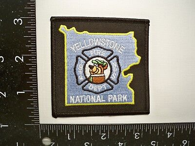 Federal Interior National Parks Service Fire Patch NPS Yellowstone, WY Yogi