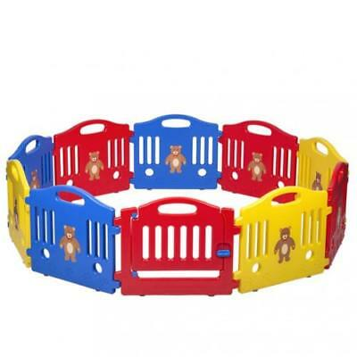10 Panel Safety Play Center Yard Baby Playpen Kids Home Indoor Outdoor Pen Fence