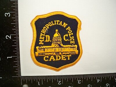 Vintage Federal Washington, DC Metro Police Cadet Patch MPD Cheese Cloth Back