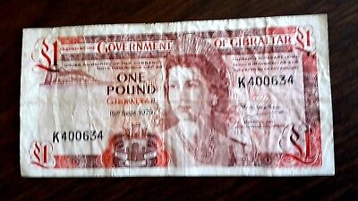 One Pound 1979 Issued By Government Of Gibraltar  U Grade,