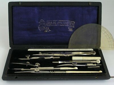 Compas Perfectionnes Technical Drawing Set / Multi-Holder / Vintage