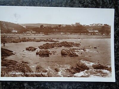 The Rocks Coldingham Bay St Abbs - Eyemouth - Berwickshire - Used Sepia RP 1956